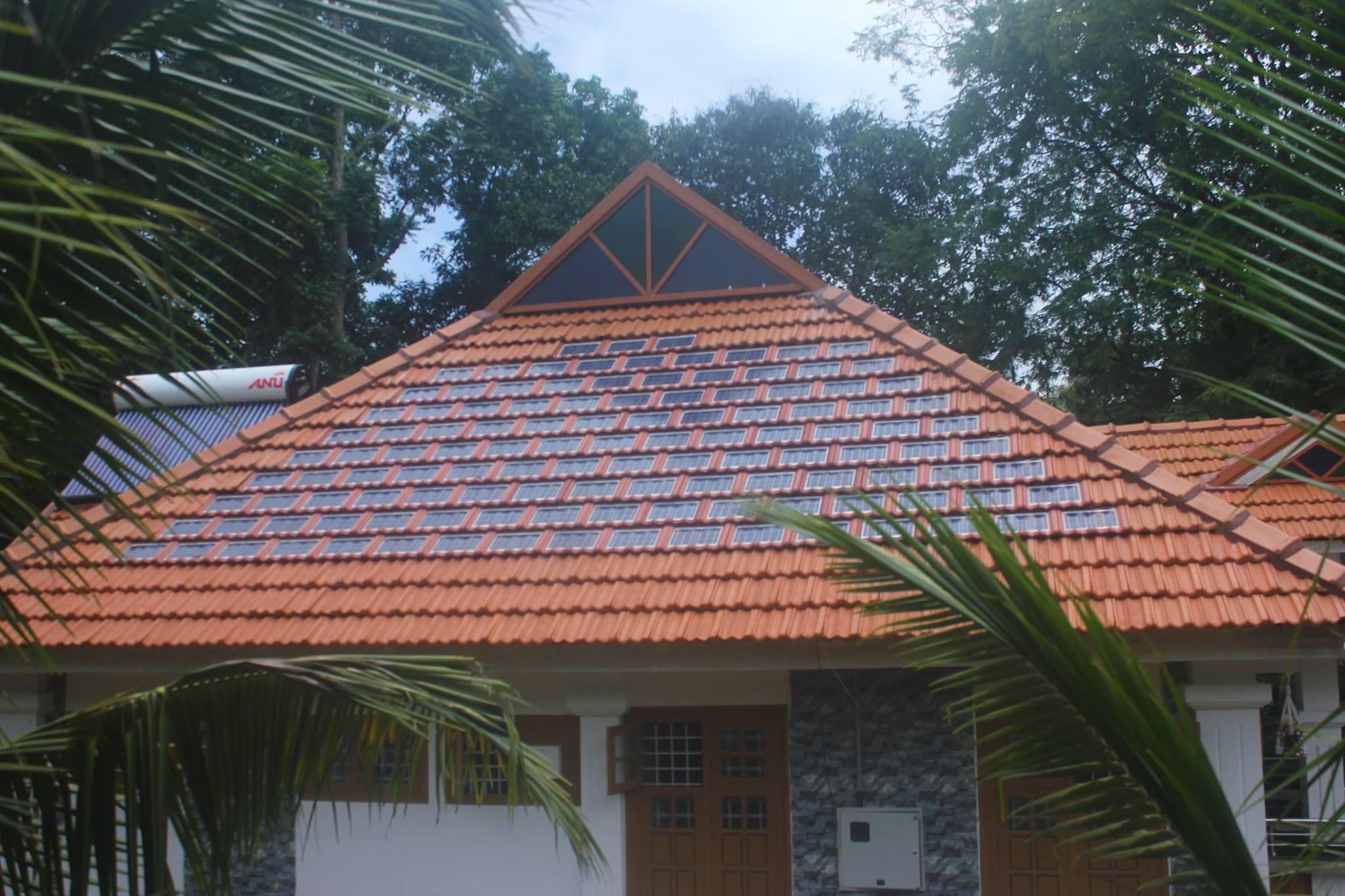 1 5 Kwp Solar Roof Tile Installation At Kerala Anu Solar